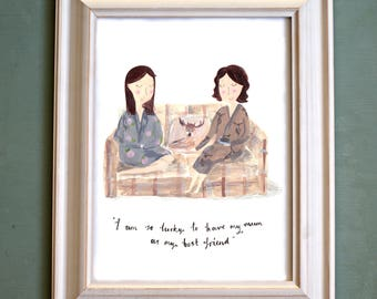 Personalised Mother & Daughter Portrait