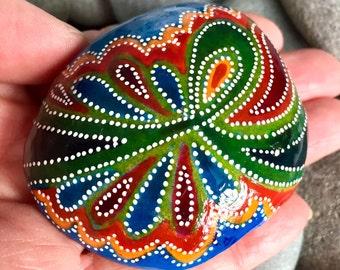 celebrate life / painted rocks / painted stones / paperweights / rock art / boho art / hippie art / bohemian decor / rocks