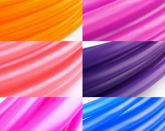 "UV Six Toned  Ombre Sun Set Polypro Hula Hoop 3/4""or 5/8"" Collapsible for Travel- Push Pin Connection"