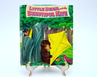 Little Bear and the Beautiful Kite, Vintage Children's Book, Hanna Barbera Cartoon, Whitman Tell-A-Tale Books, 1959