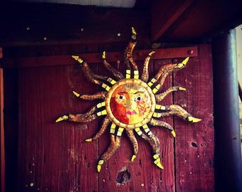 Metal Mosaic Sun