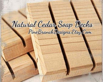 Cedar Soap Savers Dishes Decks 101 pieces Wholesale Pricing Standard size