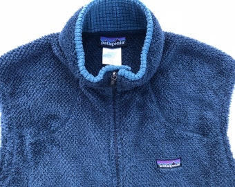Vintage Patagonia t snap synchilla fleece pullover red black xs small