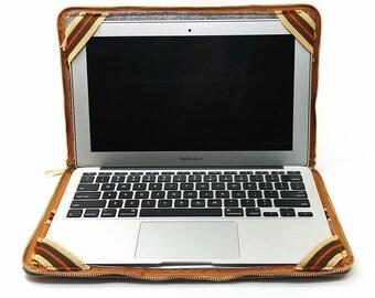 Laptop Case Stand, Macbook Air 11 Inch Sleeve, Cork Laptop Briefcase 11 Inch, Christmas gifts, Zipper Laptop Sleeve, Felt Bags, J5D532