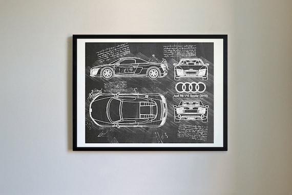 Audi r8 v10 spyder 2015 sketch da vinci vector blueprint te gusta este artculo malvernweather Image collections