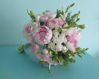 Wedding bouquet Bridal flower Pink peony rose