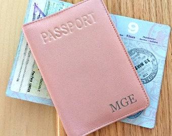 Personalized passport cover, passport holder, passport wallet, cute passport holder, RFID passport, passport pouch, passport sleeve pink