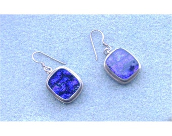 Purple Dichroic Glass Earrings Set in Sterling Silver - Hand Crafted