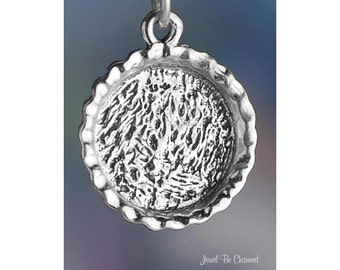 Sterling Silver Pie Crust Baking Charm for Cooking Dessert Solid .925