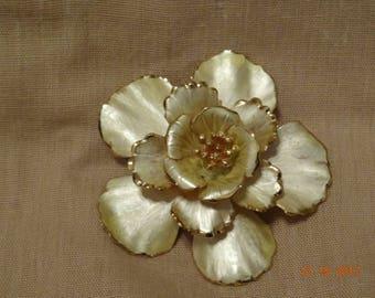 Cerrito White Enamel Brooch