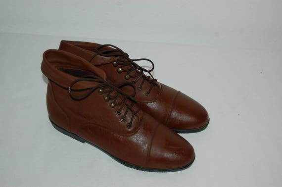 Ankle 8 Women Brown Vintage Size Falls Boots Leather 1980s Creek vwx8qpa5w