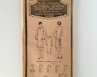 1920s Dress Pattern * Pictorial Review 2978 * Complete * Size 36