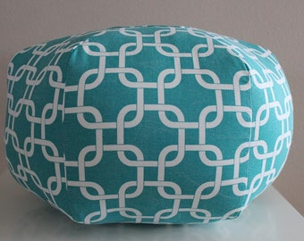 Custom Floor pouf, Fabric foot stool, Large ottoman cushion