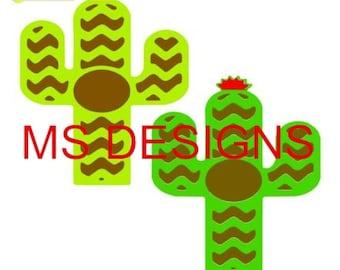 Cactus Monogram Frame Cut File FRAMES ONLY