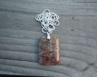 Cherry Creek Jasper Pendant Necklace