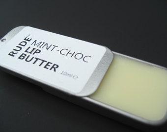 Mint-Choc Organic Lip Butter | Vegan Lip Balm | Organic Lip Balm | Vegan Lip Salve | Organic Lip Salve | Peppermint Lip Balm | Cocoa Butter