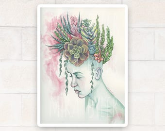 The Outpour - Original Watercolor Painting