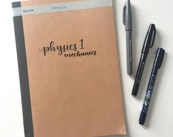 Personalised Calligraphy Notebooks