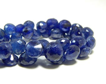 70%OFF Blue Sapphire onion Faceted Teardrop beads 100 Percent Natural Gemstone  Size 9 To 6 mm Approx .