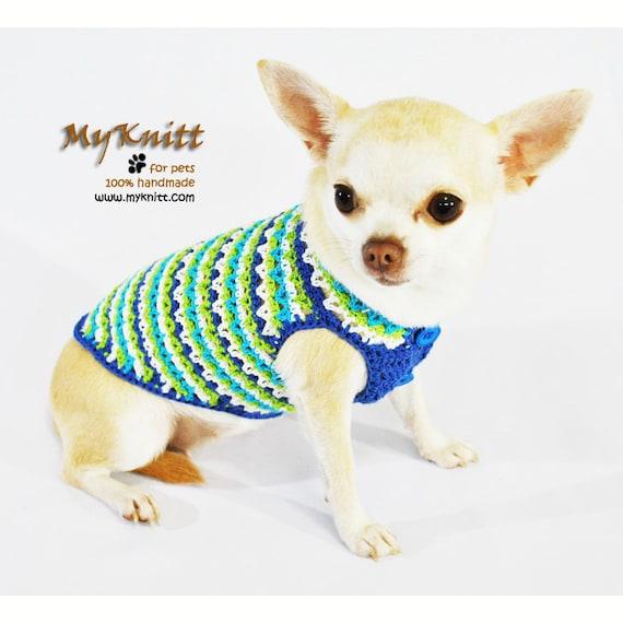 Türkis Baumwolle Hundebekleidung häkeln Hund Kleidung