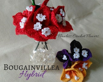 Crochet Bougainvillea Flower, Crochet Flowers, Bougainvillea