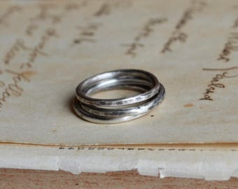 Sterling Stacking Rings Set of 3 Made to Order