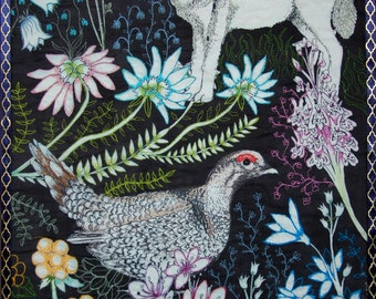 Arctic Howl Textile Artwork