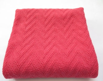 Knitted baby blanket, wool blanket baby, newborn girl blanket, new born baby's wool blanket, baby afghan, boy or girl, christening blanket