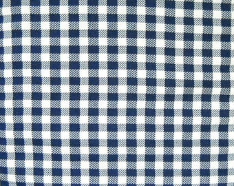 Navy Blue Gingham Plaid Fabric 58 inch wide, Fabric by the Yard, Sewing Fabric Gingham Material