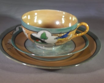 Lusterware luncheon/dessert set
