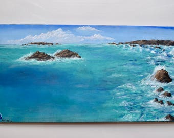 Distance--Ocean Large Acrylic Painting