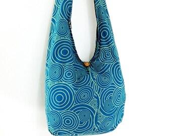 Women bag Handbags Cotton bag Hippie bag Hobo bag Boho bag Shoulder bag Sling bag Messenger bag Tote bag Crossbody bag Purse Turquoise Blue