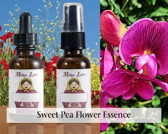 Sweet Pea Flower Essence, Dropper or Spray for a Sense of Belonging, Connection, Being at Home
