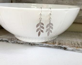 Silver Leaf Earrings, Wedding Earrings, Fall Leaf Earrings, Gold Leaf Earrings