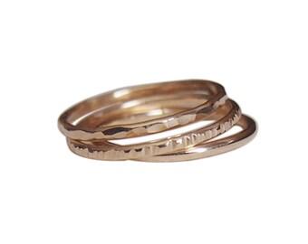 14k Gold Fill Stacking Ring