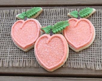 Peach Cookies / Peach Party / Peach Thank You / Peach Favor / Georgia Wedding / Peach Wedding Favor / Georgia Peach / Atlanta Georgia