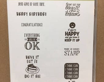 Stampin' Up! DESIGNER TEE Retired Clear Mount Stamp Set
