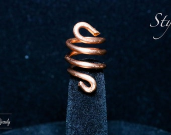 Copper Coil for Hair - Braids, Twists, Locs - Loc Jewelry