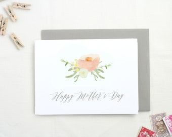 Floral Mothers Day Card. Mom Card. Mothers Day Gift. Happy Mothers Day. Card for Mom. Cute Mothers Day Card.