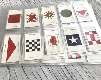 Antique complete set of Wills First Aid collectable cigarette cards. 50 cards. Circa 1924. Condition Fair to Good.