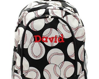 Monogrammed Backpack Personalized Baseball Backpack Personalized Backpack Kids Backpack Girls Backpack Boys Backpack