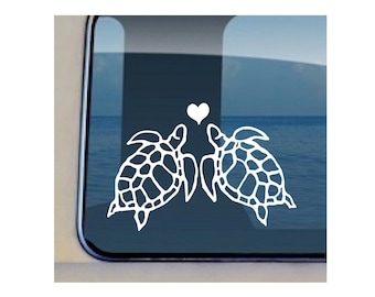 Turtle Love Decal Hawaiian  Sea Life Sticker  22