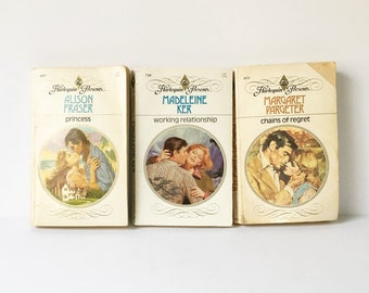 Harlequin Romance Novels 1970s 1980s Paperbacks Love Set of 3
