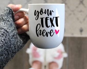 Custom Coffee Mug Design | Your text here | Personalized Mug | Custom  | Gift Wrap | Gift Box