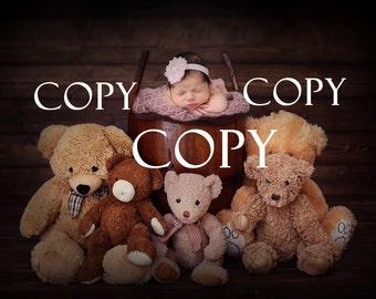 Newborn composite backdrop
