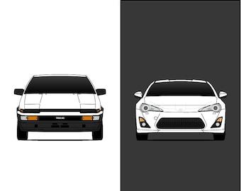 Toyota 86 Generations // AE86 // GT86 // FT86 // Scion FRS // Trueno // Corolla // Sprinter // Levin