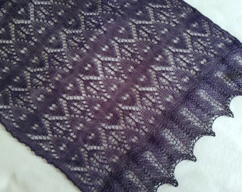 Purple lace scarf/ purple lace stole/ lace wrap/ purple lace shawl