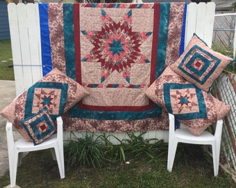 Radiant Star Quilt for Twin sized Daybed