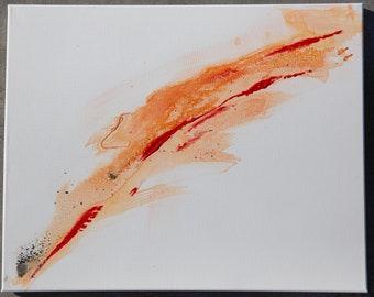 Orange Cigarette- watercolor modern contemporary painting