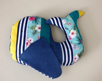 Plush whale Arthur/Whale plush fabric